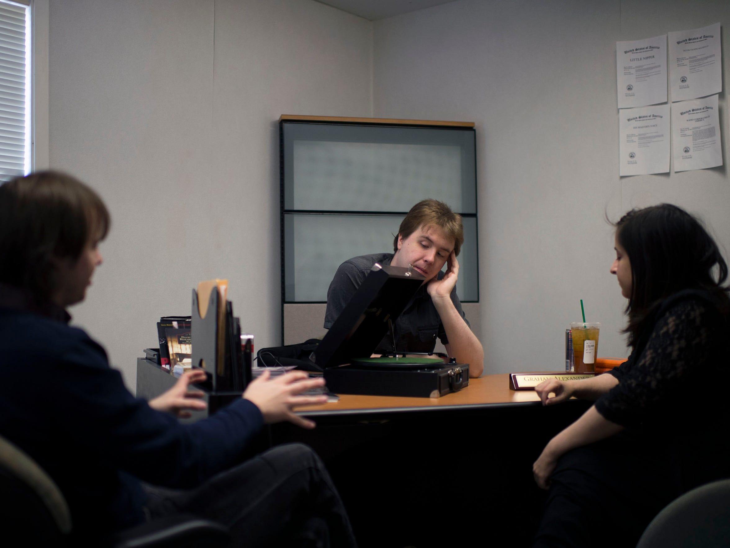 Zach Harski, from left, President Graham Alexander