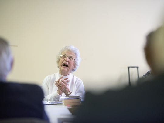 Luella Dreyer, who recently turned 96, enjoys a role