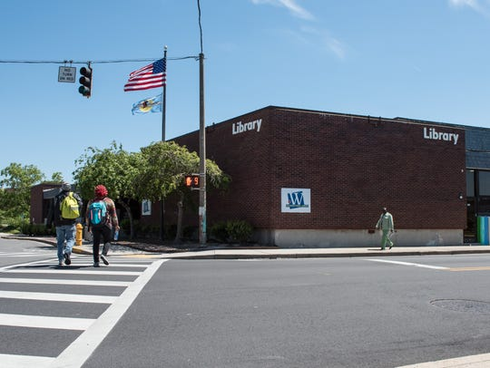 An exterior view of the Wicomico Public Library on