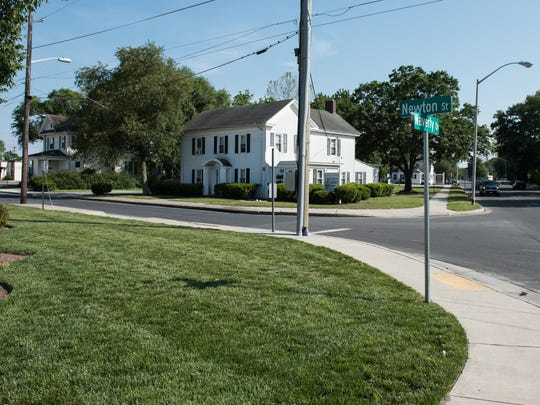 A view of Waverly Drive and Newton Street near where the incident occurred on Monday,  May 23, 2016.