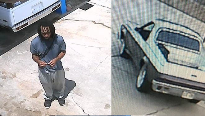 suspect and car involved in vehicle theft