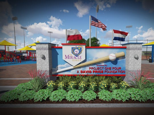 Computer rendering of the  planned entrance to the Mufreesboro Miracle Fields.
