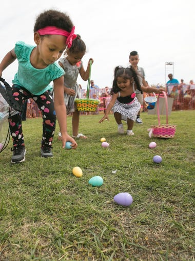 3/24: Easter Eggstravaganza | Easter egg hunt starts at 9:45 a.m. for kids 2 and under and continues every half hour by age group for kids up to 11. Six Easter basket prizes will be awarded to children who find eggs with a golden ticket inside. | Details: 9 a.m.-1 p.m.Saturday, March 24. Gateway Park, 10100 N. El Mirage Road. Free. 623-876-2942, janderson@elmirageaz.gov or www.elmirageaz.gov.