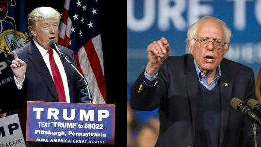 Republican presidential candidate Donald Trump said he would be willing to debate Bernie Sanders, and Sanders has accepted.