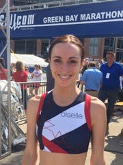 Caitlin Comfort of Verona was the top female finisher in the half marathon of the 17th annual Cellcom Green Bay Marathon on Sunday, May 22, 2016.