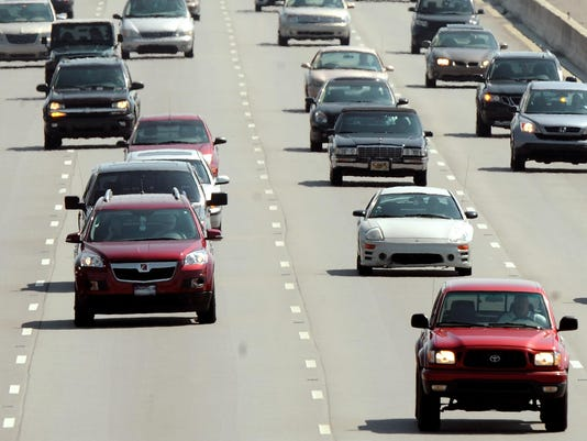 IndyStar stock traffic stock interstate stock road