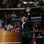 CHARLOTTE, NC - SEPTEMBER 06: Obama at DNC (Photo by Lucian Perkins For The Washington Post via Getty Images)