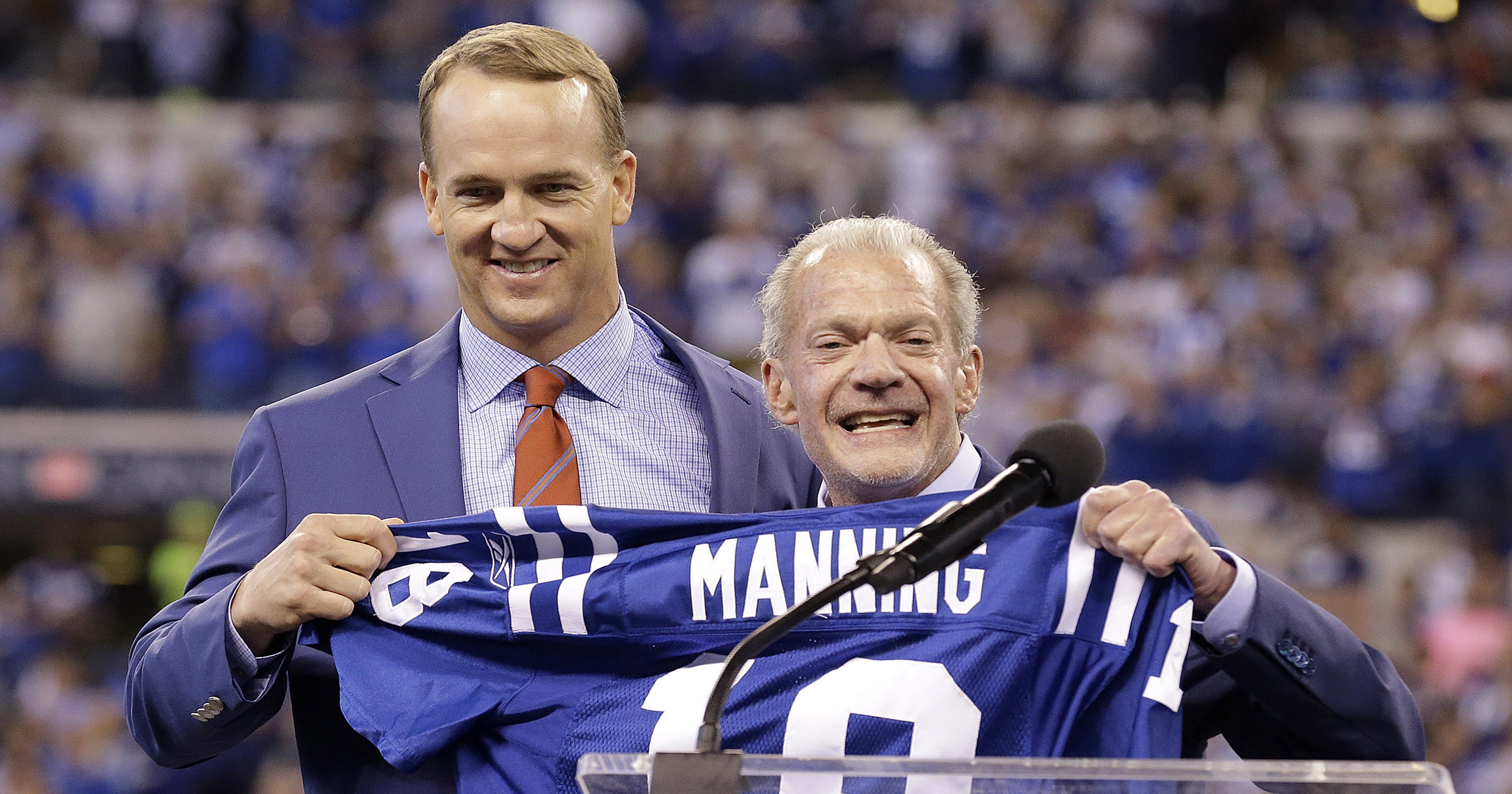 28a05ad3856 NFL messed up putting Peyton Manning in a Broncos jersey. Here's why Colts  fans are mad.