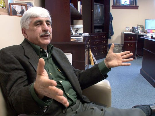 Stafford Township Mayor John Spodofora is interviewed in his town hall office Wednesday, March 4.