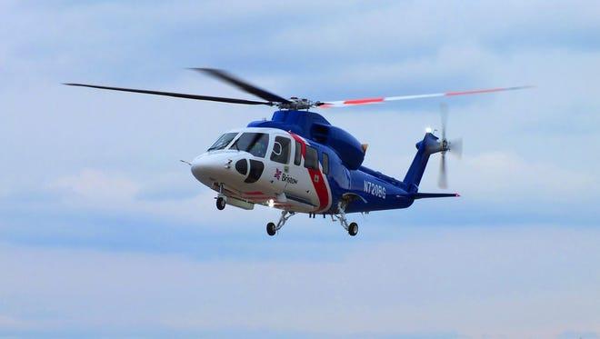 A Sikorsky S-76D.