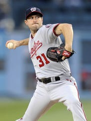 Max Scherzer leads the NL with 173 strikeouts.