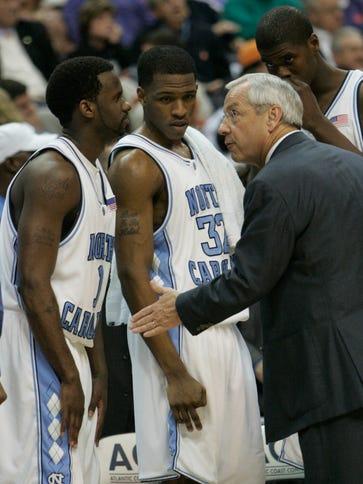North Carolina men's basketball coach Roy Williams