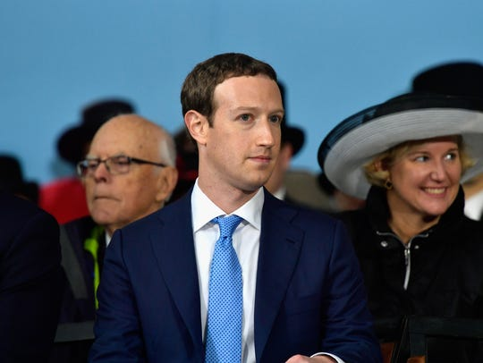 Facebook Founder and CEO Mark Zuckerberg delivers the