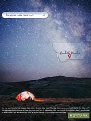 This ad highlighting the Beartooth Mountains is part of the state's advertising campaign to bring visitors to Montana this summer.