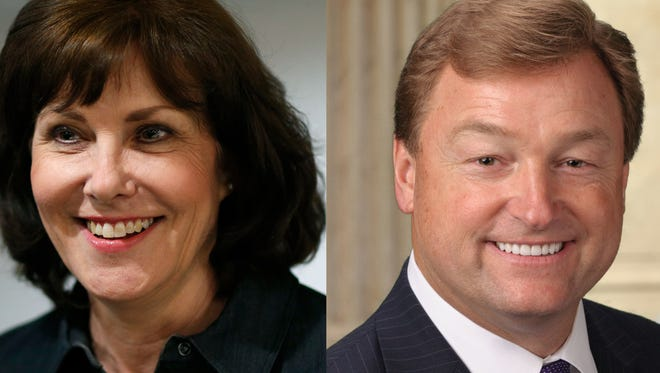 Democrat Jacky Rosen and Republican Dean Heller.