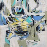 """Curators estimate """"Composition: Grays, Whites,"""" was created sometime between 1949 and 1952 when Willem de Kooning's influence on Ray Spillenger was probably at its peak."""
