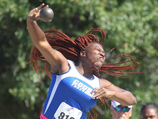 Godby senior Dorian Solomon has been the state champion in shot put the last two seasons, and last year she added a silver medal in discus. Solomon will have her work cut out for her to three-peat due to strong competitor's throws this year.