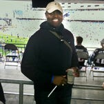 Chip Flowers at Patriots game.