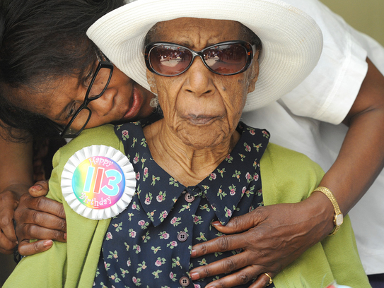 Susannah Mushatt Jones at her 113th birthday.