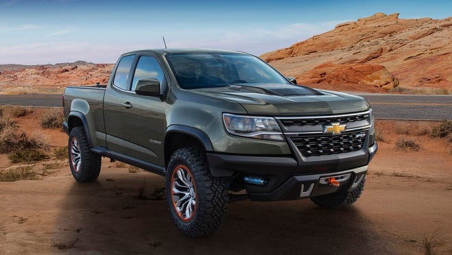 The ZR2 builds on the midsize Colorado Z71 production truck and Chevy's history with the ZR2 trim package last offered on the S-10 pickup in 2003 and Blazer SUV in '05.