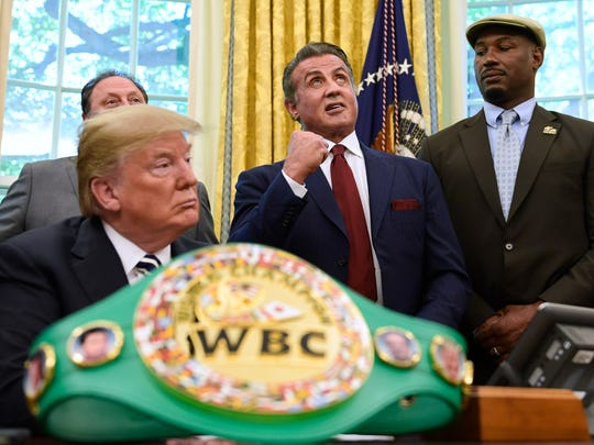 President Trump, Sylvester Stallone, and heavyweight