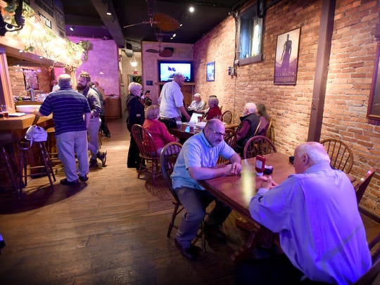 Lebanon County Democrats gathered at the Downtown Lounge to watch the returns from local and national primary elections.