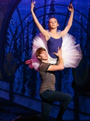 "Dmitriy Vistoropskiy as Cavalier and Mallie McNeill as Sugar Plum Clara dance during ""The Nutcracker"" rehearsal Tuesday, Dec. 12, at Murphey Performance Hall."