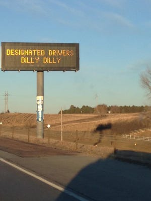 A sign from the South Dakota Department of Transportation