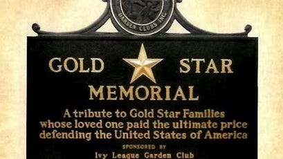 The Sheboygan County, Wis. Gold Star Memorial Marker. The Twinsburg Garden Club will dedicate a similar marker in Veterans Park in September, 2021.