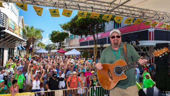 Michigan's Don Middlebrook performs in Key West.