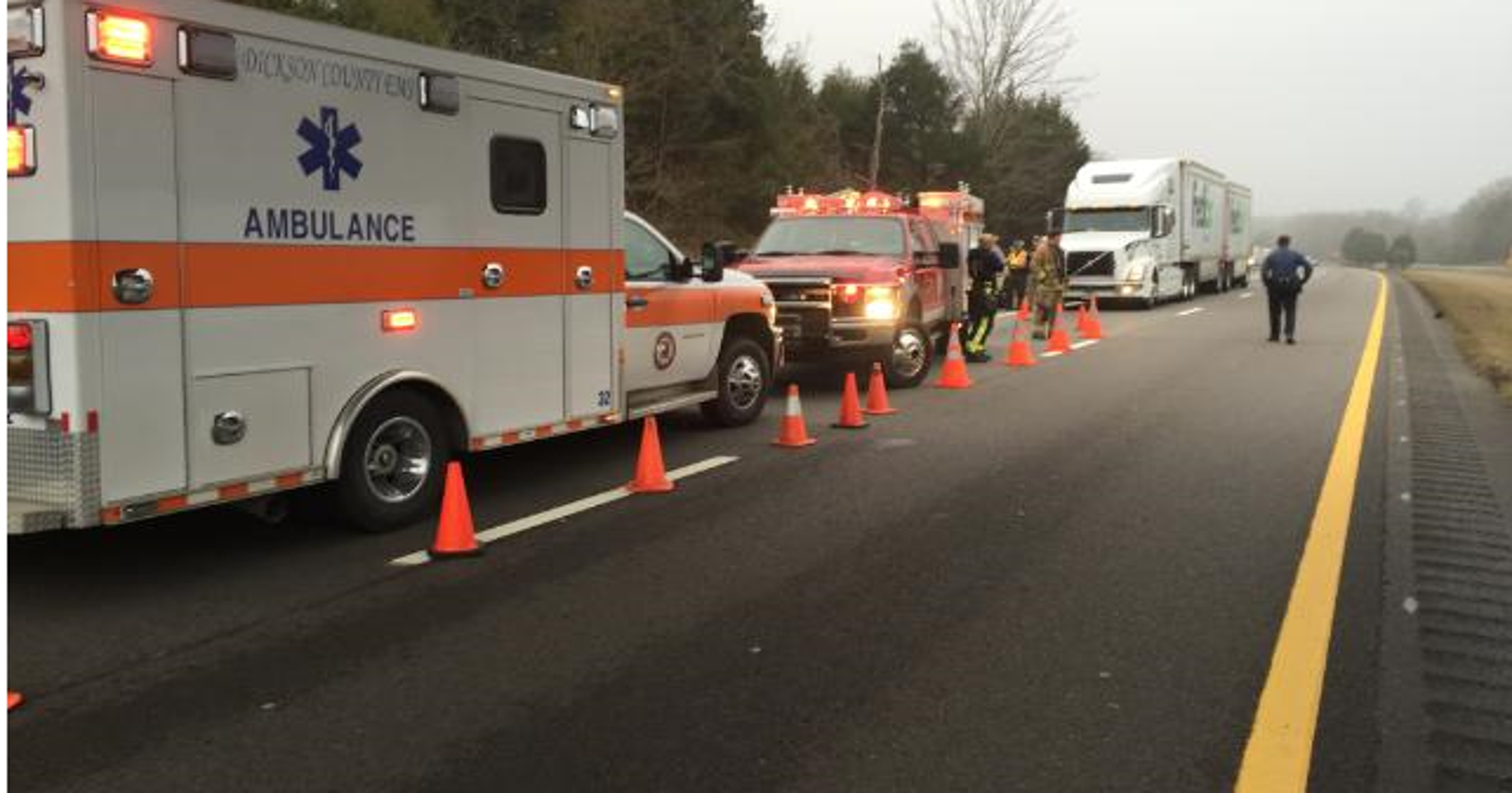 I-40 east in Dickson Co  back open after fatal wreck