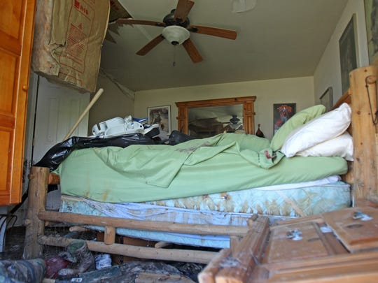 This was Scott McCune bedroom for nearly eight years prior to Hurricane Harvey.