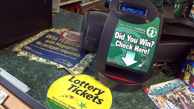 The lottery ticket verification machine at the Bailey's Discount Liquors in Lakehurst.