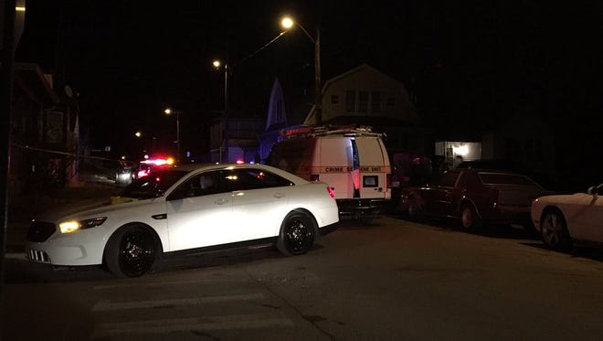 Indianapolis police are investigating the scene of a fatal shooting in the 1900 block of Union Street on the near-south side, Thursday, Feb. 2, 2017.