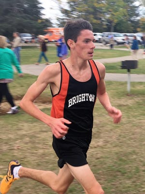 Brighton's Zachary Stewart has run 15:41 this season, the fastest cross country time in Livingston County.
