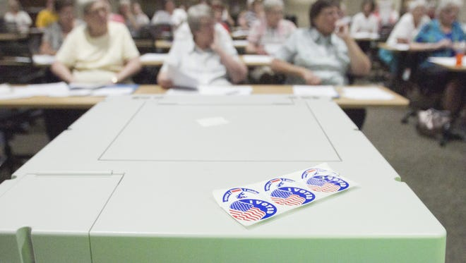 A group of mostly newcomers to the process of election poll inspection attend a class held last fall giving them the tools to work the polls at the November 2017 elections. The county is set to receive over $710,000 to purchase voting system equipment and software.