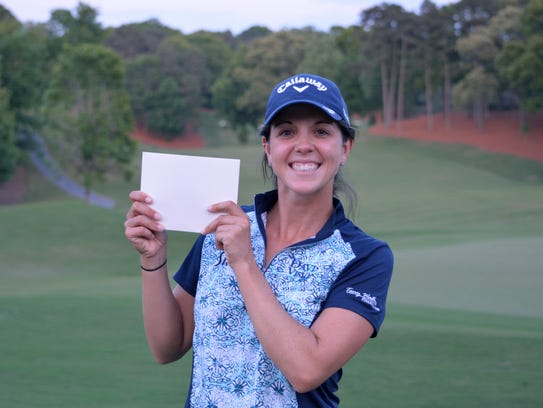 Emma Talley after winning three-person playoff to qualify