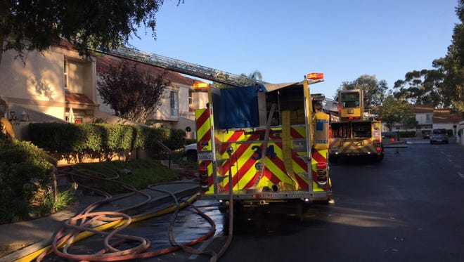 A fire in a bedroom at a condominium complex in Thousand Oaks was quickly extinguished on Saturday, officials said.