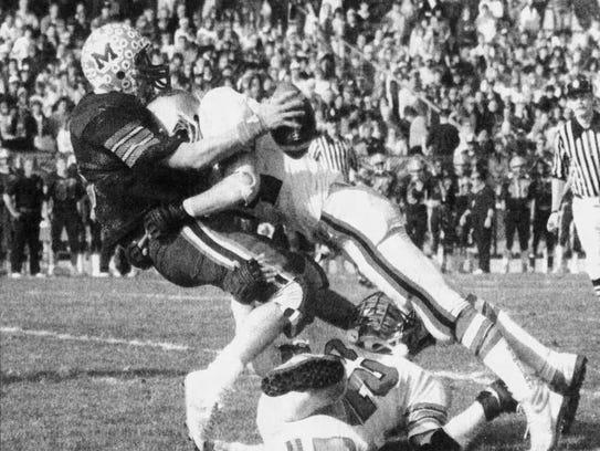 Vineland's Joe Crescenzi hits Millville quarterback