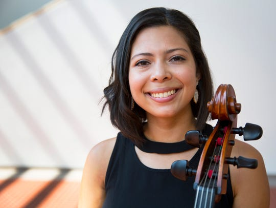Diana Flores, a cellist, is working on an artist diploma