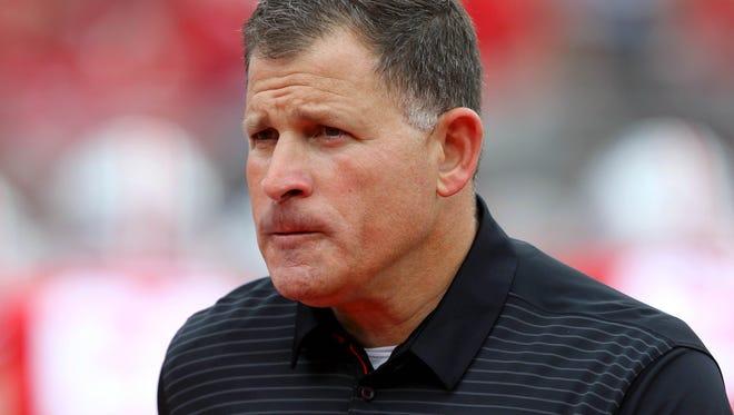 Ohio State defensive coordinator and former Rutgers head coach Greg Schiano.
