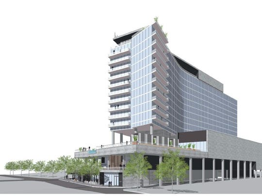 A rendering shows the W hotel planned for the Gulch.
