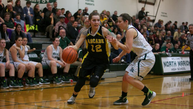 Cascade senior Alyssa St. Peter (left) was chosen as the Oregon West Conference co-player of the year.