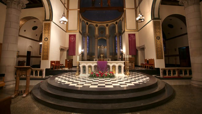The altar at St. Mary's of Redford Catholic Church in Detroit. The parish was founded in 1843 and this church building was dedicated 1926.