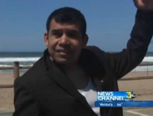 Beach baptism California