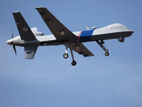 This photo provided by U.S. Customs and Border Protection shows an unmanned drone used to patrol the U.S.-Canadian border.