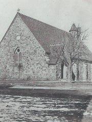 This circa 1875 photo shows the stone building that