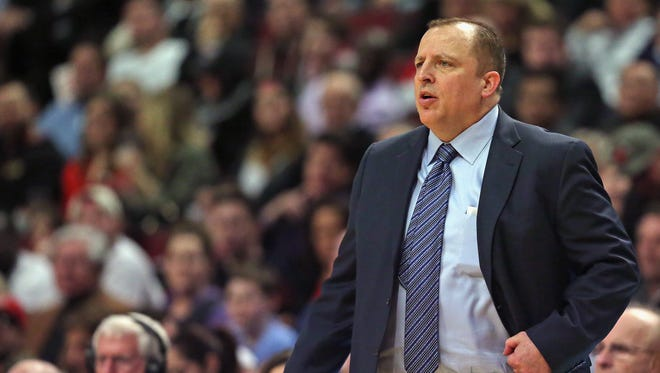 Tom Thibodeau, the former head coach of the Chicago Bulls, was announced as the head coach and president of basketball operations of the Minnesota Timberwolves on Wednesday night.
