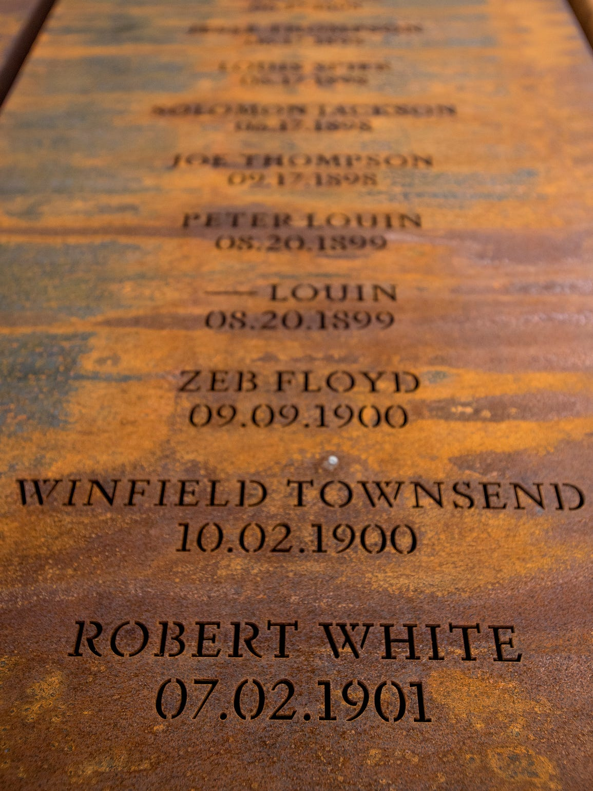 "One of the pillars at EJI's lynching memorial shows the name of Robert White. The 1900 Census listed him as Robert White as Robin. Most witnesses at the trials referred to him by that name, as did accounts of the murder after the sentencing. But the coverage immediately following the lynching called him Robert, as did a handful of witnesses. His brother Abe, who would play a major role in the events before and after the lynching, used both ""Robin"" and ""Robert"" in a letter dictated in 1902, suggesting, perhaps, that Robin was a nickname."