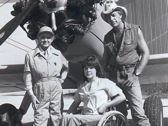 Bette Davis, Suzy Barbieri, and Howard Hesseman in